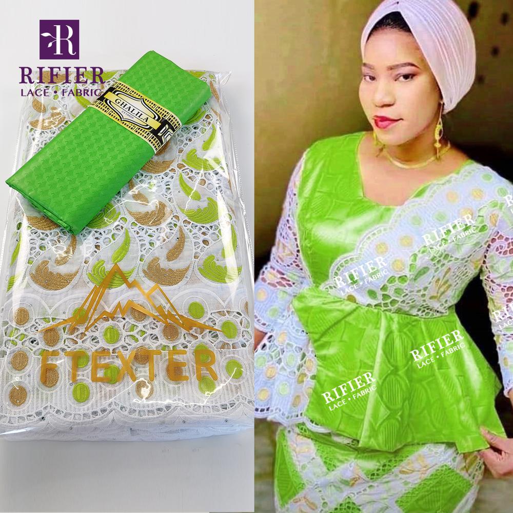 2.5 + 2.5 jardas swiss voile tecido de renda com bordado 2021 design exclusivo bazin riche tecido para gâmbia feminino casamento tradicional
