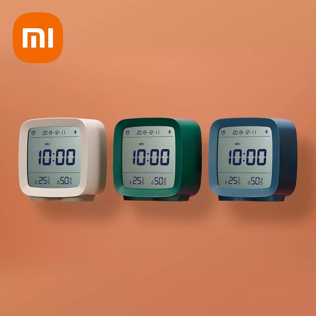 الأصلي XIAOMI Cleargrass بلوتوث المنبه الذكية التحكم درجة الحرارة الرطوبة عرض LCD شاشة قابل للتعديل شمعة