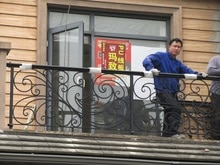 Hwer shanghai-Balustrades de balcon   En fer forgé, design personnalisé, usine