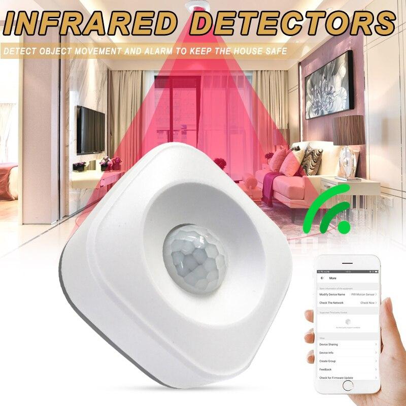 Multifuncional Color blanco inteligente inalámbrico PIR movimiento infrarrojo alarma Detector tienda hogar...