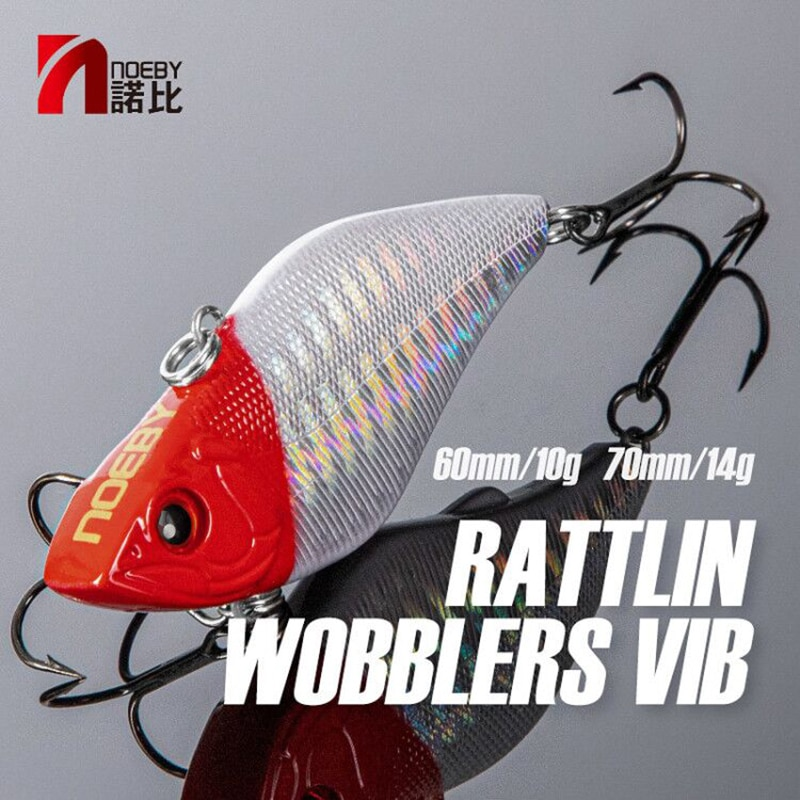 AliExpress - NOEBY Rattlins Fishing Lure 60mm 10g 70mm 14g Rattling VIB Sinking Wobblers Swimbait Hard Baits 9002 for Pike Fishing Lures