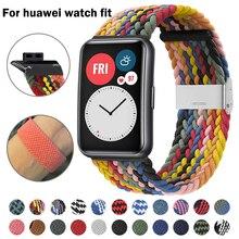 Correa de nailon para reloj Huawei, pulsera de repuesto ajustable, trenzada, nueva