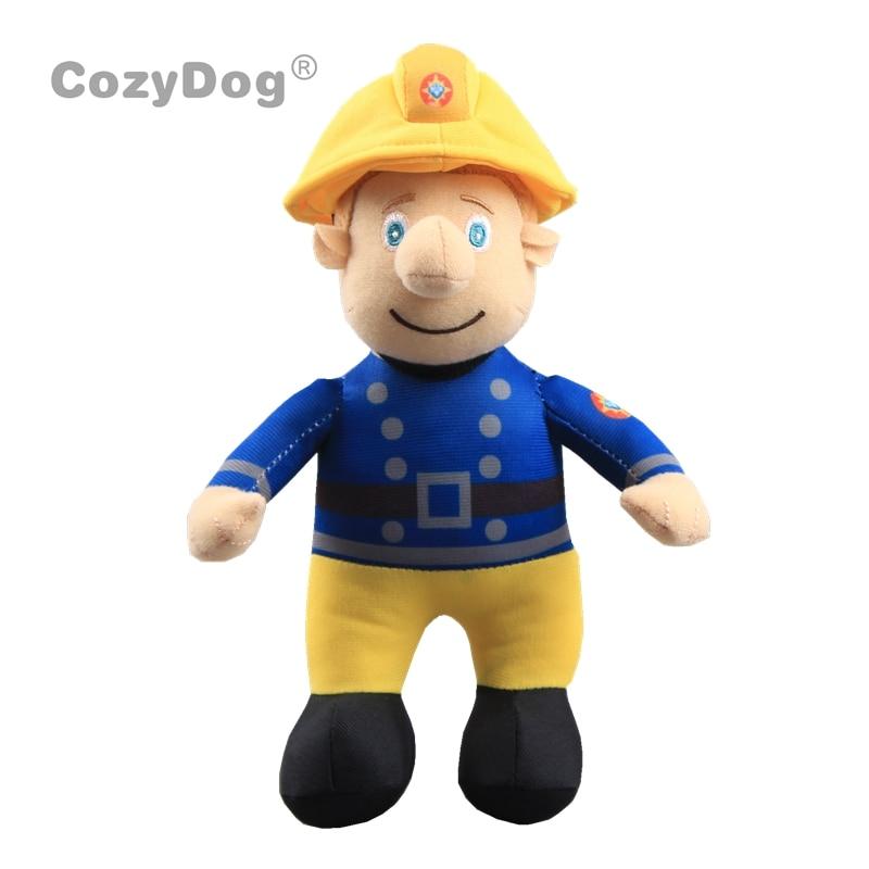 24cm Anime Fireman Sam Plush Toys Doll Peluche Pillow High Quality Baby Kids Birthday Party Gift Home Car Sofa Decor