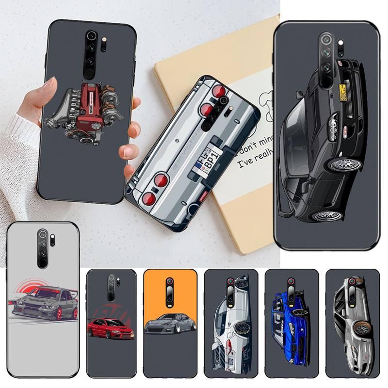 HPCHCJHM Drift Cars, cubierta de teléfono de TPU de silicona suave de carreras de coches para Redmi Note 8 8A 8T 7 6 6A 5 5A 4 4X 4A Go Pro