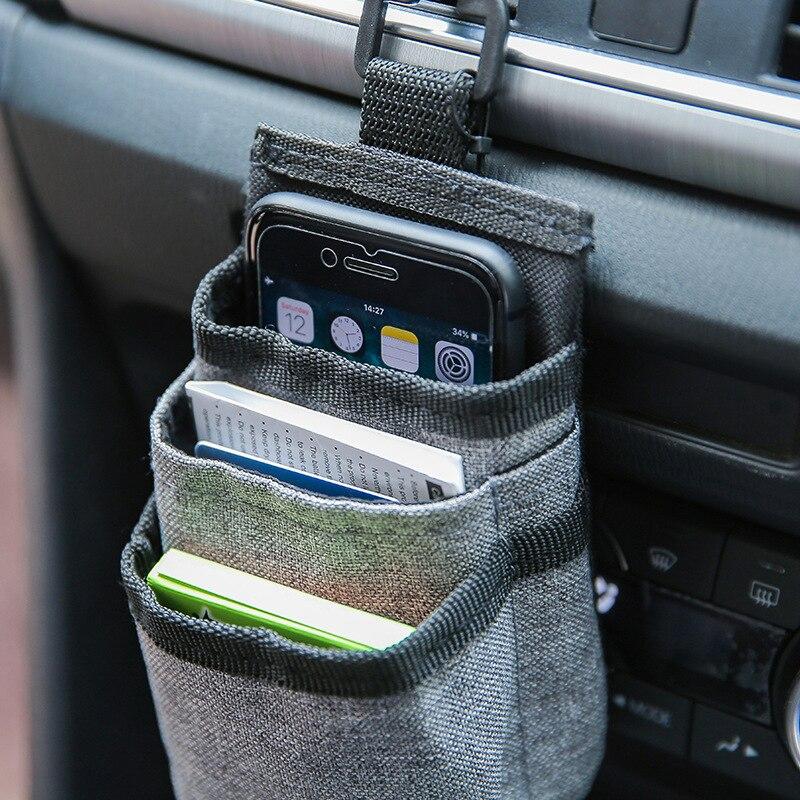 Многофункциональная автомобильная сумка для хранения телефона, воздушная розетка, портативный ключ, u-диск, кабель для передачи данных, орг...