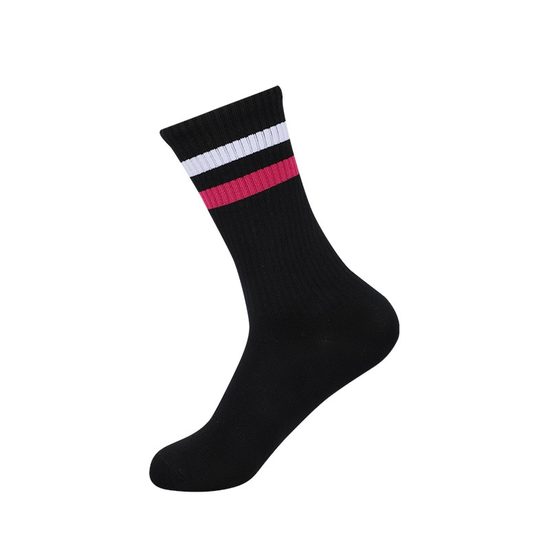 Autumn and winter British men's horizontal striped stockings sports and leisure solid color cotton socks