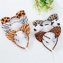 Fascia per capelli da donna con stampa leopardo orecchio di gatto fascia per capelli Sexy fascia per capelli bella fascia per capelli forniture per feste accessori copricapo Multi colore