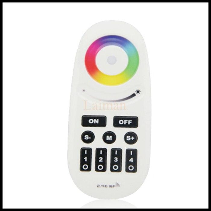 Luz mi inalámbrica 2,4G 4-Zone RGBW Touchtone control remoto para tira de led, controlador rgb RF Wifi regulable para mi bombilla de luz