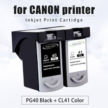 Topcolor PG40 CL41 atrament kartridż do canona PG 40 CL 41 Pixma iP1800 iP1200 iP1900 iP1600 MX300 MX310 MP160 MP140 MP476 drukarki