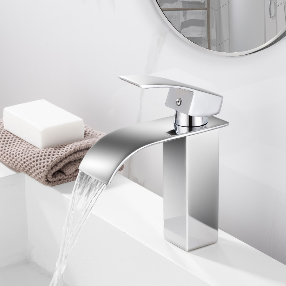 hpb nice design brass bathroom faucet basin hot and cold water mixer taps single hole torneira do banheiro robinet chrome hp3043 Waterfall Bathroom Vanity Sink Faucet Single Lever Chrome Brass Hot and cold Basin Washing Mixer Taps Torneira