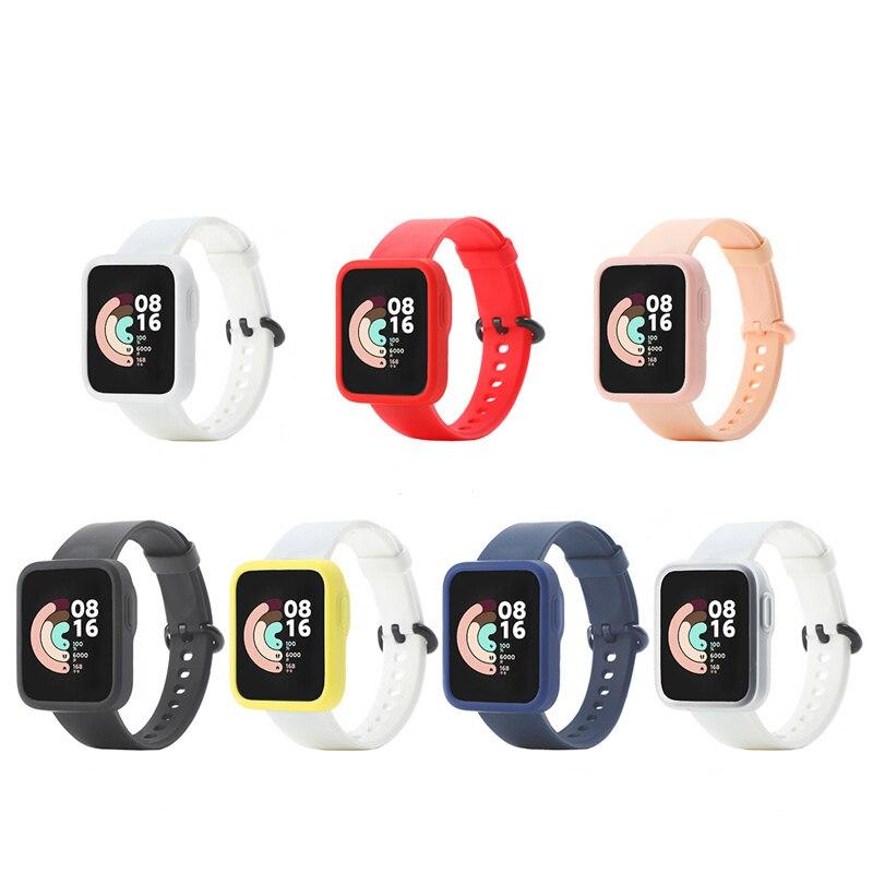 For Xiaomi Mi Watch Lite Redmi Smart Watch Case Ultra thin TPU Silica Bumper Protective Shell Cover ultra slim tpu watch case skin protective cover for xiaomi mi watch lite global version for redmi watch accessories