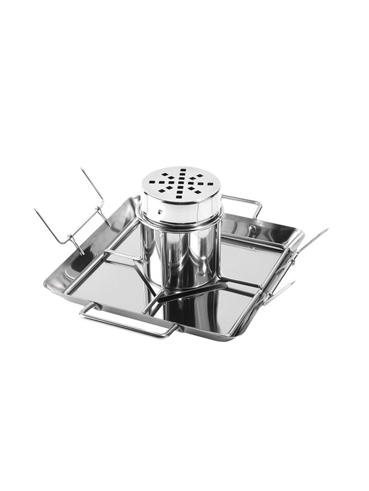 BBQ Chicken Roaster Beer Can Chicken Rack Holder Grill Rack Stainless Steel Vegetable Barbecue Pan Outdoor BBQ Accessories