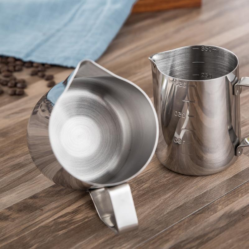 Quality Stainless steel coffee cup pull flower tools moka pot milkshake foam fancy cup coffee apparatus milk jug Cafe Kitchen