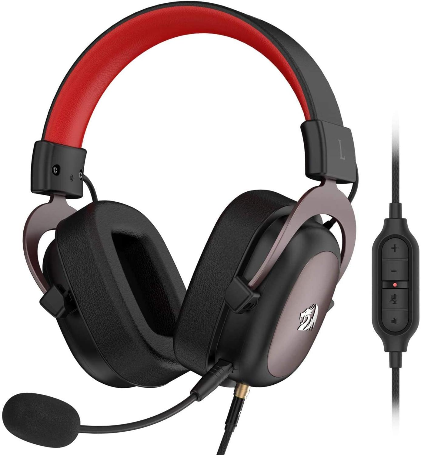 Redragon H510 Zeus wired game headset 7.1 Surround sound memory foam ear pad with removable micropho