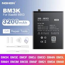Аккумулятор NOHON BM3K BM3E BM3B BM3L BM4H BM4F для Xiaomi Mix 2 3 8 Lite SE 9 Pro 10 Note 2 CC9