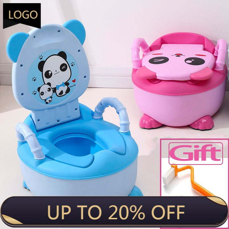 Portable Cartoon Children's Pot Baby Potty Plastic Road Pot Infant Cute Baby Toilet Seat Potty Trainer Seat Potty Training Seat