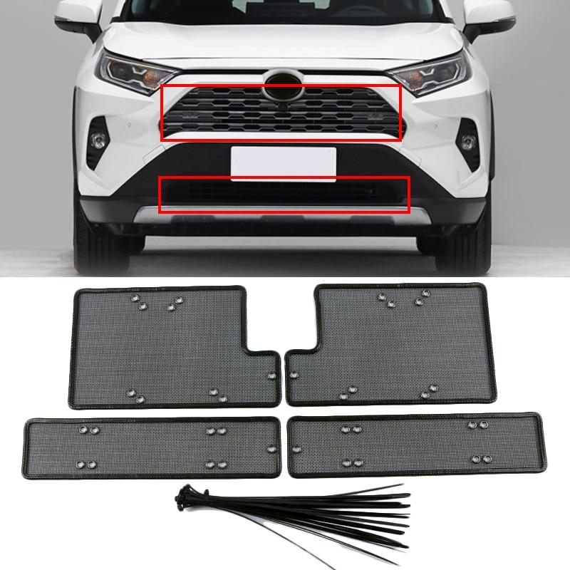 Rvs Auto Insect Screening Mesh Grille Insert Netto Styling Accessoires Voor Toyota RAV4 Rav 4 2019 2020