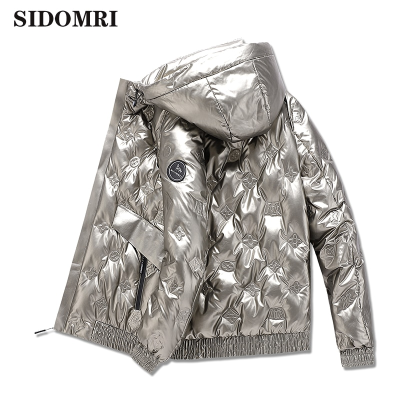 Down jacket winter new collection 90% white duck down jacket of brand design stand-up collar and glossy coat for men