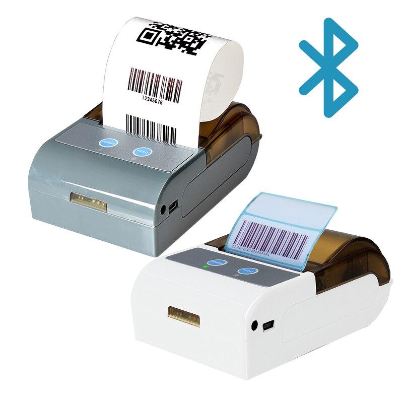 Impresora térmica de recibos Bluetooth, Mini impresora portátil de 2 pulgadas, 58MM, máquina Pos pequeño para teléfono móvil, ipad, android / ios