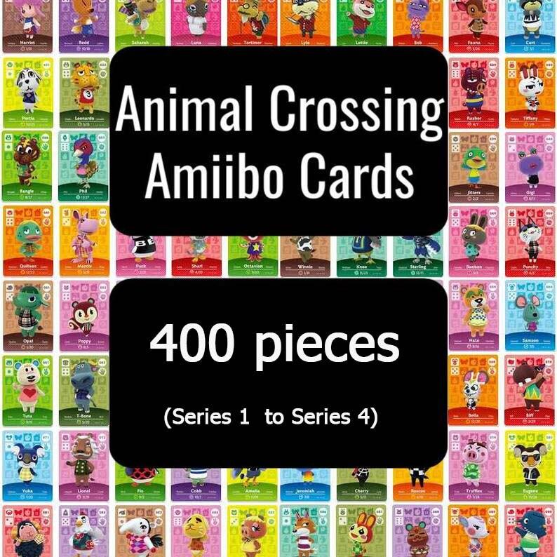 400 Cardinal Crossing Card Amiibo Card полный комплект (серия 1-Серия 4)