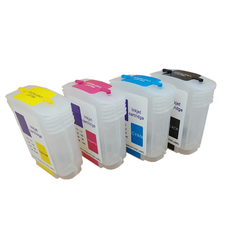 Einkshop para hp 10 82 cartuchos de tinta recarregáveis com chip para hp designjet 500 500ps 800 800ps 815m impressora