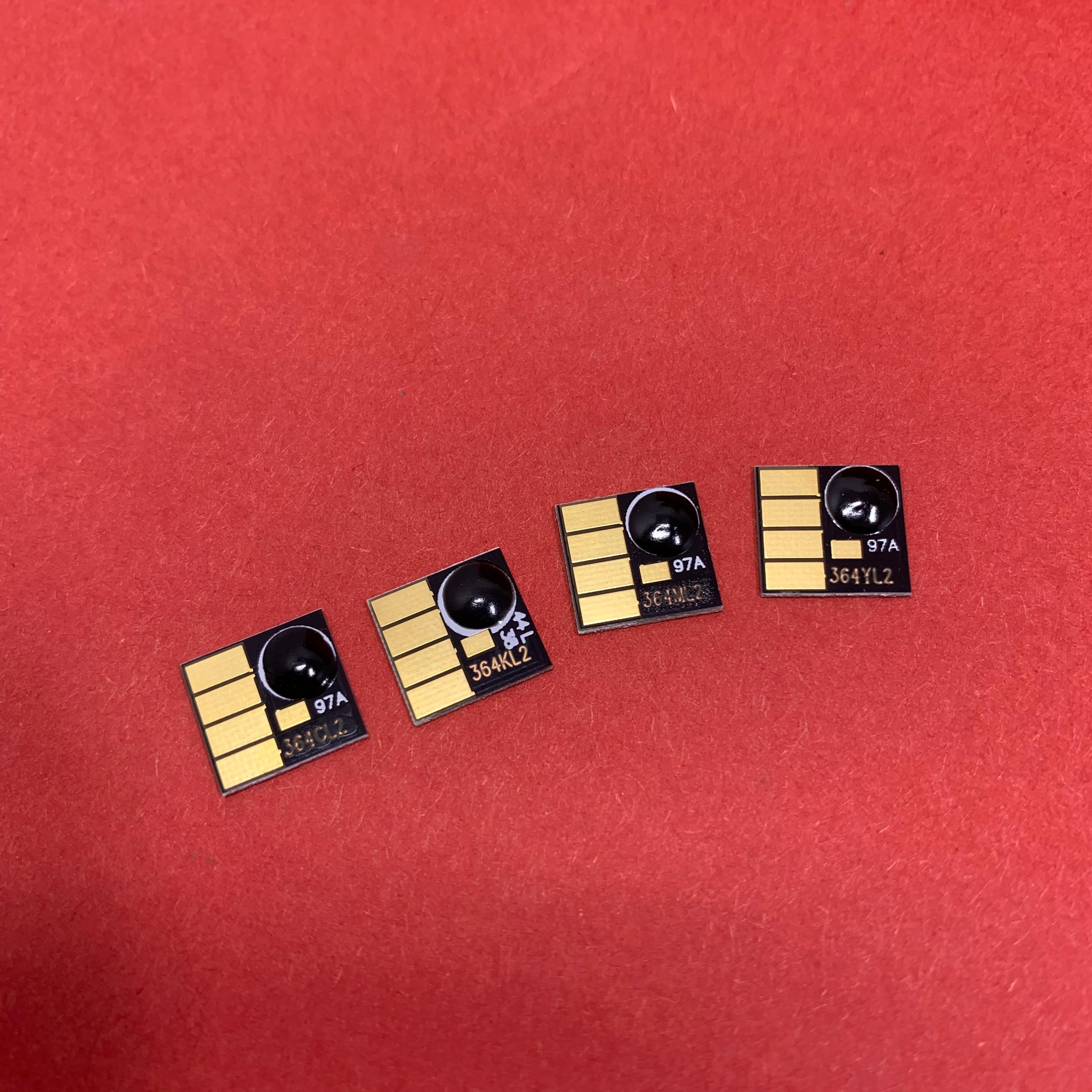 YOTAT 4color permanente chip para HP364XL HP 364XL HP364 HP 364 para HP Photosmart B8550 B8553 B8558 C6380 C6383 C5324 impresora