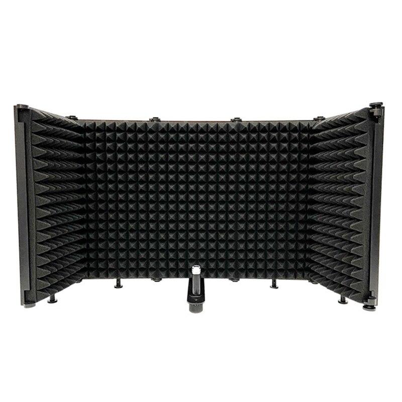 ميكروفون AQA عالي الجودة ، غطاء عازل للصوت قابل للطي ، تقليل الضوضاء وشاشة Windproof ، مناسب لاستوديو التسجيل المباشر