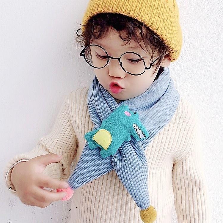 Children's scarf Korean version of warm neck wrap in autumn and winter for boys, girls, children and
