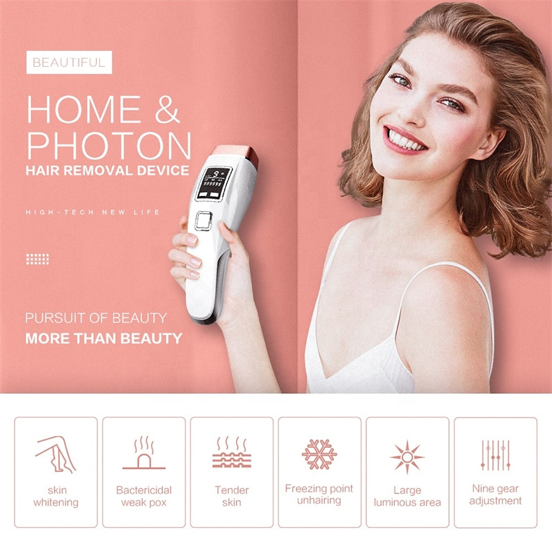 Hair Remover Ice Point Laser Epilator Painless IPL Hair Removal for Women Facial Body Profesional Pe