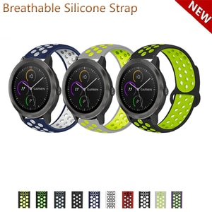20mm 22mm Silicone Band Strap for Garmin Vivoactive 3 Music for Garmin Forerunner 645 645M 245 245M Replacement Watchband
