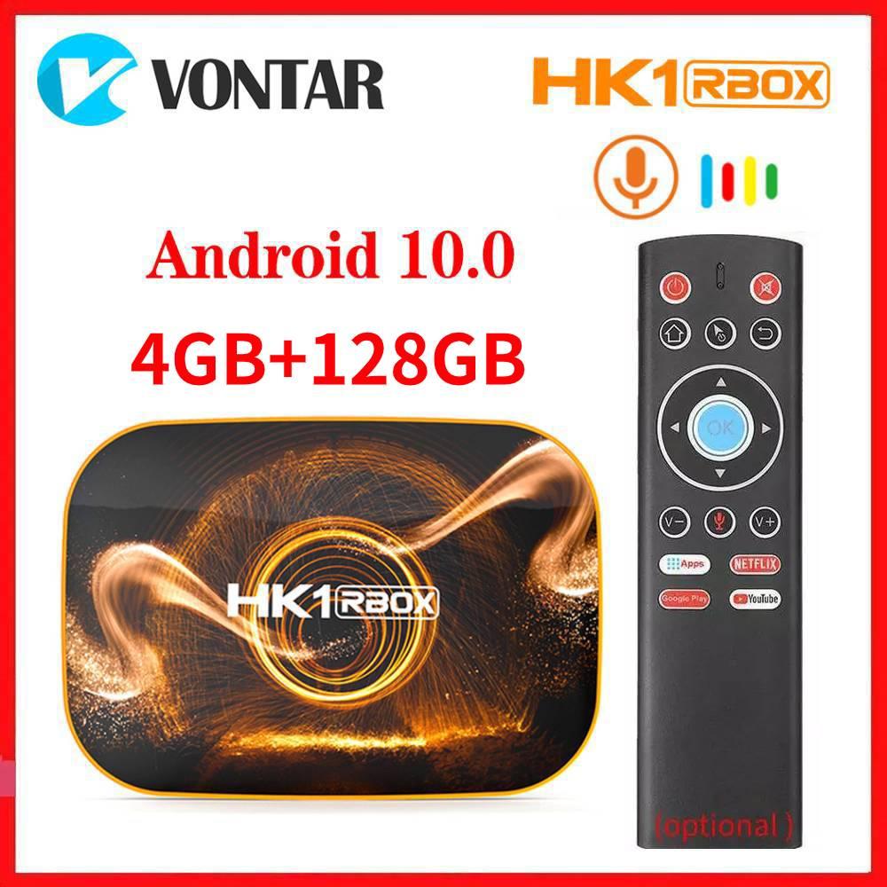 Vontar Android 10,0 Smart TV Box Android 10 TVBOX 4K Media Player HK1 RBOX R1 Max 4GB RAM 128GB ROM USB 3,0 Youtube Set Top Box