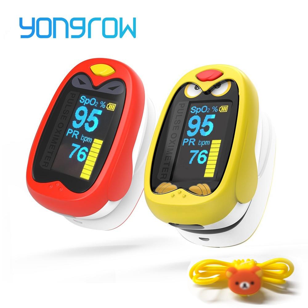 Yongrow Medical Infant Finger Pulse Oximeter Pediatric SpO2 Blood Oxygen Saturation Meter Neonatal children kids Rechargeable