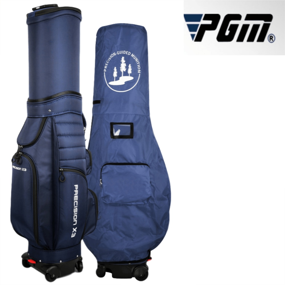 Golf Bag Men And Women Universal Air Bag Four Wheel Golf Bag Telescopic Bag Can Brake Flat Push Ball Backpack