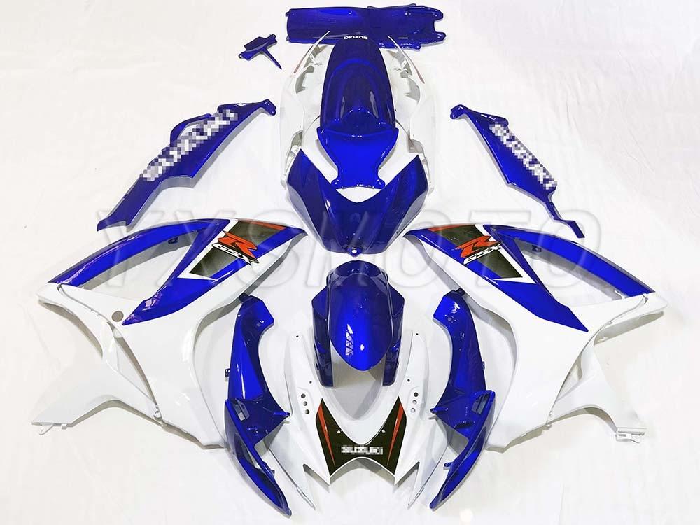 العلامة التجارية الجديدة ABS حقن القالب الأزرق الأبيض الهدايا المجمعة لسوزوكي GSXR600 750 2006 2007 Fairings مجموعة gsxr750 600 k6 06 07