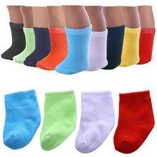 Chaussettes pour poupée pour filles, 18 pouces, vêtements pour poupée, 43cm, meilleur cadeau danniversaire pour enfants, 8 couleurs