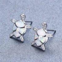 trendy turtle blue imitation fire opal stud earrings for womens accessories fashion women earrings statement jewelry gifts
