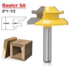 45 grad Fräser Router Bit Set Holz Fräser Hartmetall 8mm Schaft Mühle Holzbearbeitung Trimmen Gerade Carving Schneiden Werkzeuge
