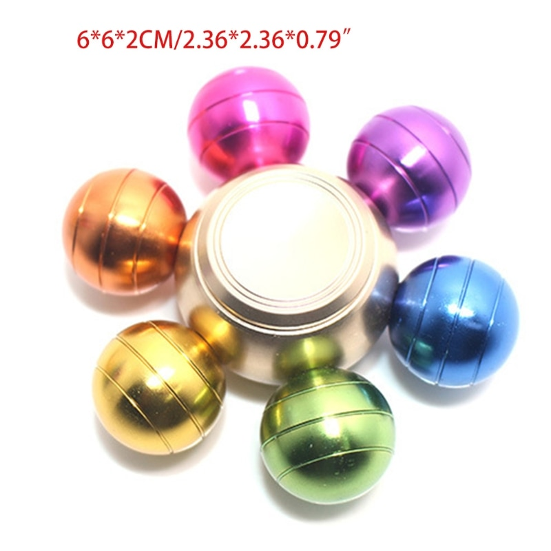 Colorful Detachable Finger Fidget Spinner Spinning Stress Relief Toy Adults Kids J2HD enlarge