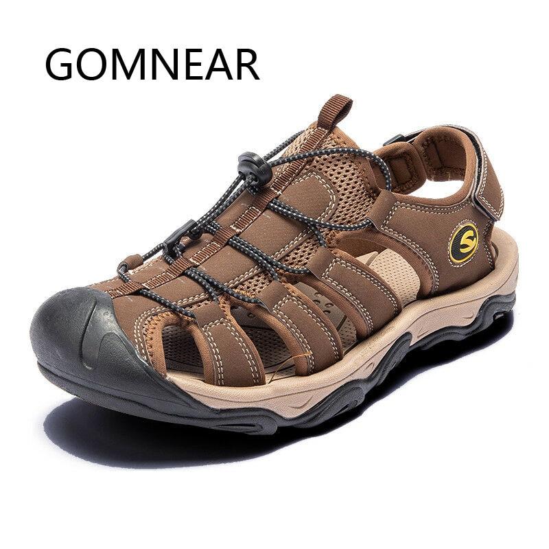 GOMNEAR hombre/mujer zapatos verano playa sandalias Hombre Casual zapatillas al aire libre sandalias Hombre transpirables caminar calzado deportivo de gran tamaño