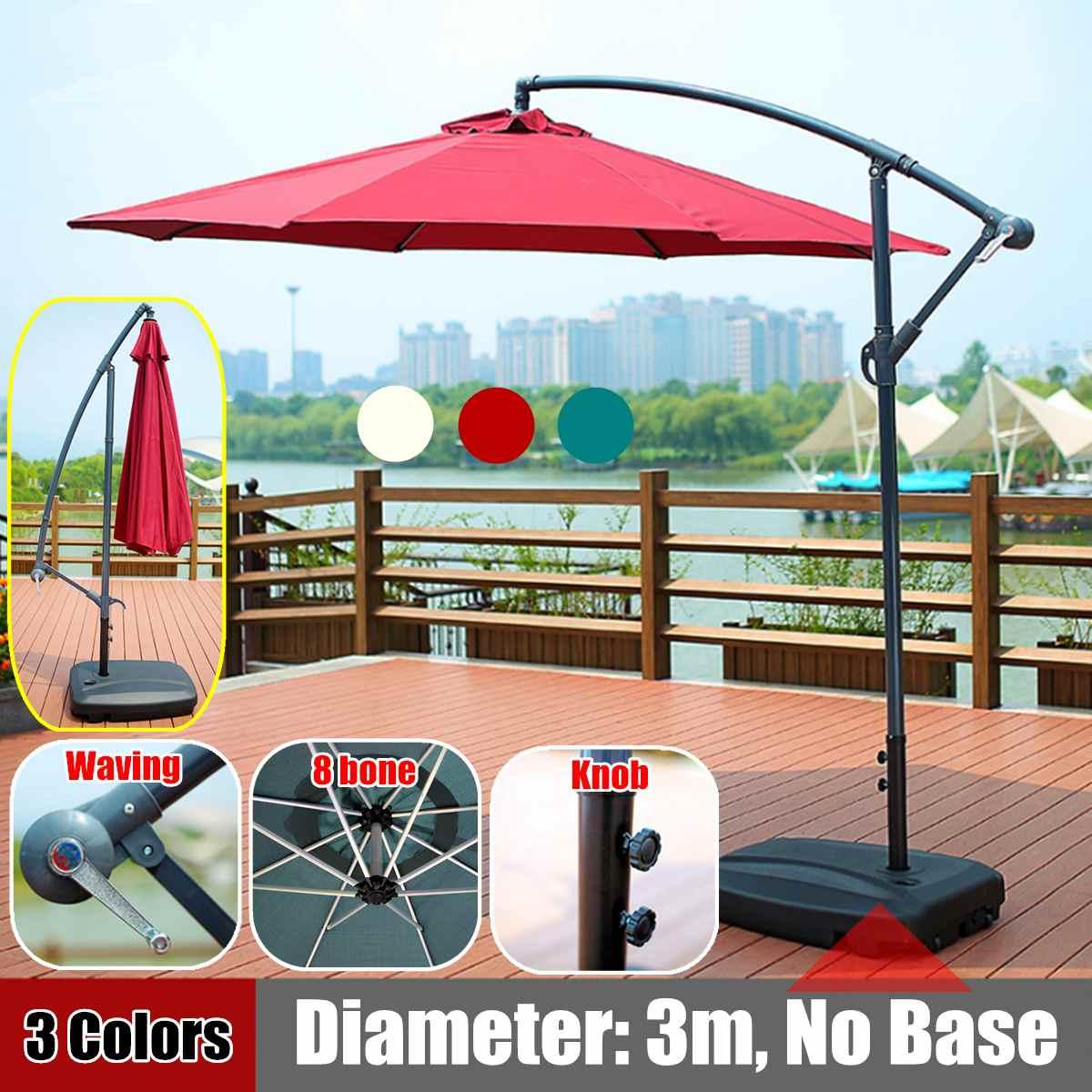 خيمة أكشاك 300 سنتيمتر بإطار حديدي ، مظلة قابلة للتعديل ، فناء خارجي ، حديقة ، مظلة 8 عظام ، مظلة ، مقاومة للماء ، غطاء مضاد للأشعة فوق البنفسجية