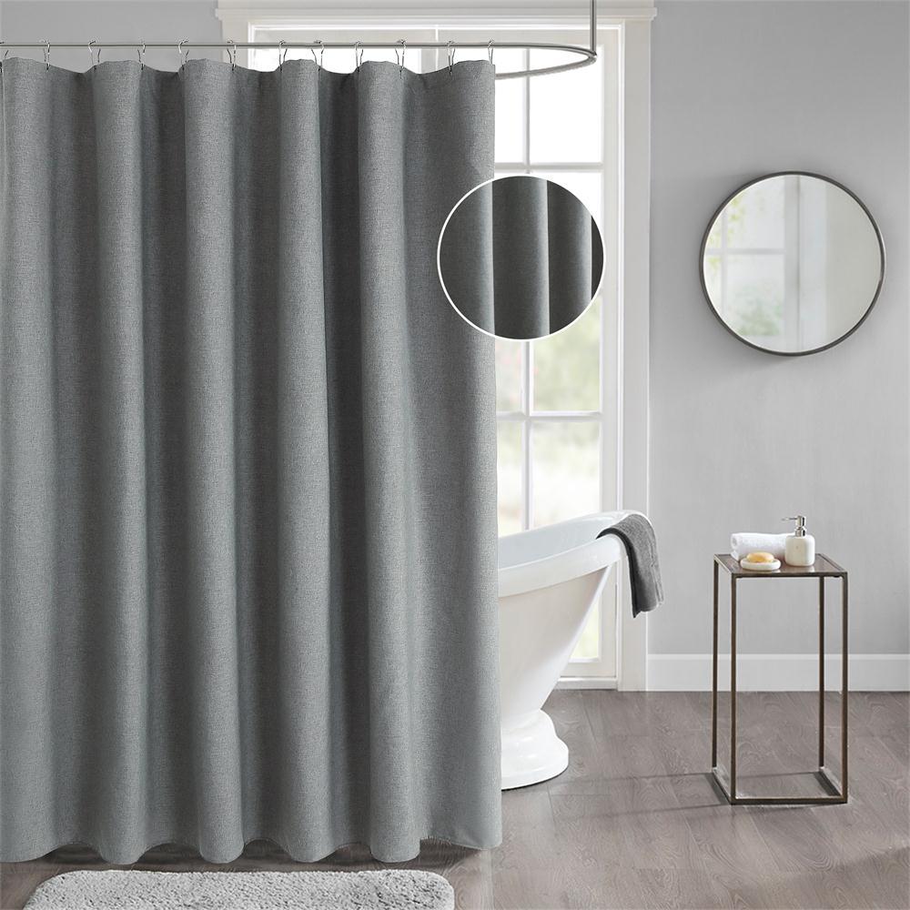 Dafield Royal Shower Curtain Extra Long Heavy Weight Thick Lining Hemp Fabric Linen Heavy Duty Hotel Luxury Shower Curtain