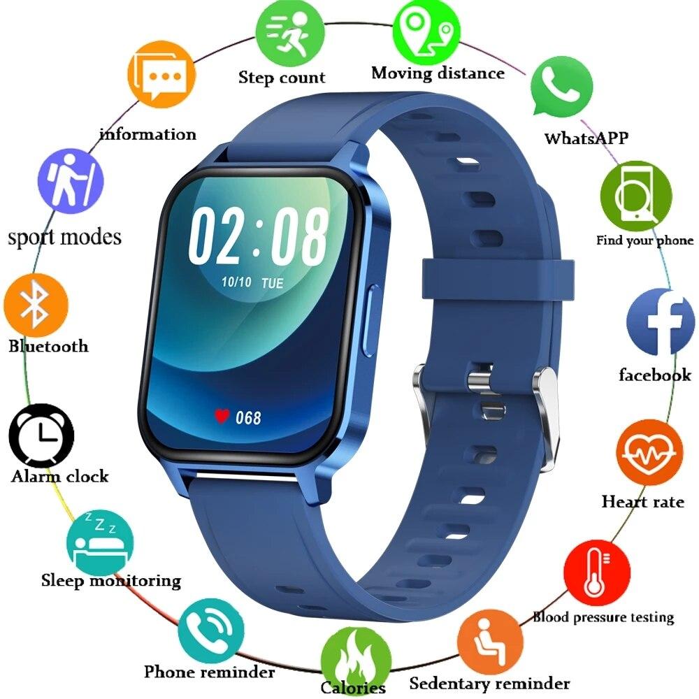 LIGE New Smart Watch Fitness Tracking Heart Rate Monitor Call Reminder Sports Smart Clock Men Women