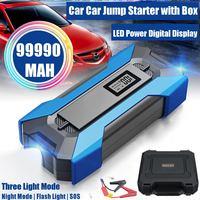 Пусковое зарядное устройство для автомобиля, 99990 мАч, 12 В, портативный внешний аккумулятор для экстренных случаев, пусковое устройство для д...