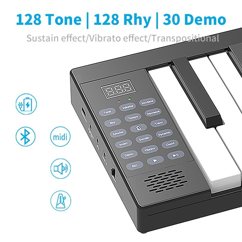 Folding Piano Music Instruments Musical Midi Keyboard Controller Professional Electronic Synthesizer  88 Keys Digital piano enlarge