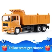 remote control engineering vehicle charge self dumping children handle 8 channels boys toys car model wheel load abs lighting