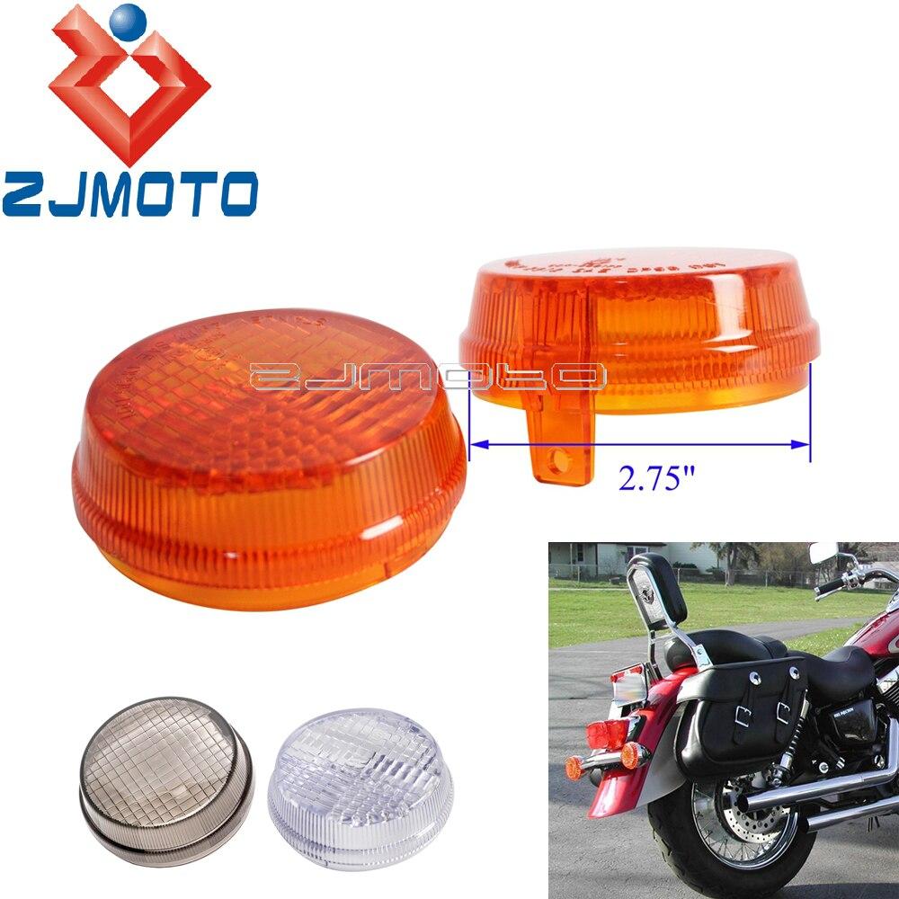 """Мотоцикл 2,75 """"оранжевый индикатор освещает поворотники круглые линзы для Honda Cruisers Kawasaki Vulcan 2000 1600 Classic"""