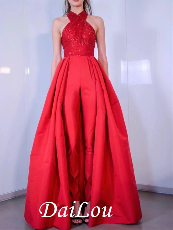 Sparkle Elegant Engagement Formal Evening Dress Halter Neck Sleeveless Floor Length Satin with Criss Cross Sequin 2021