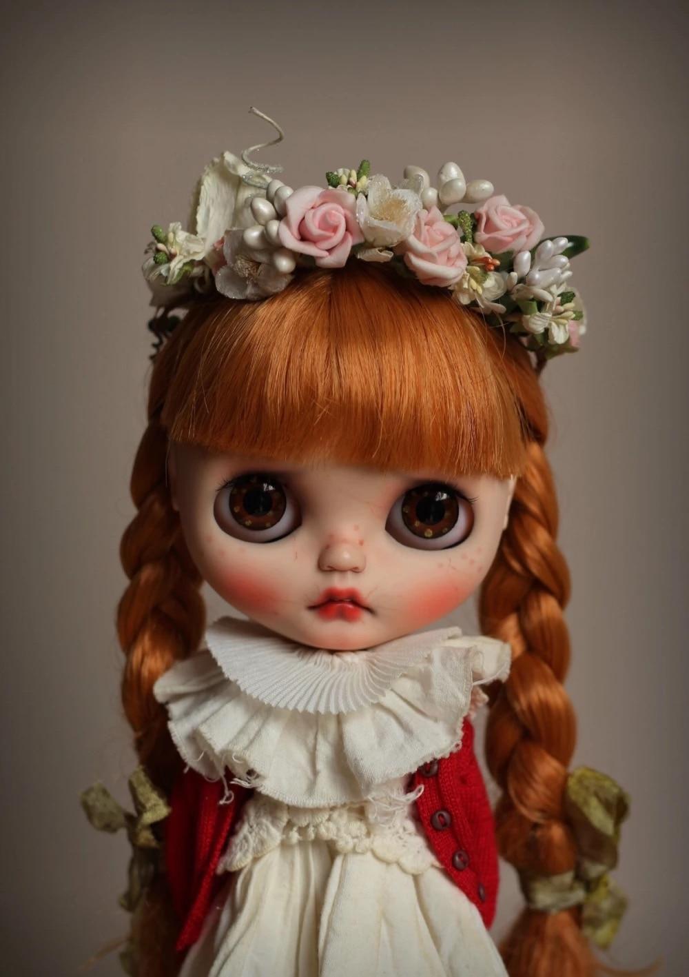 ICY 19 Joint Blyth muñeca con cara de maquillaje piel blanca con pelo chica regalo Rubio real persona estilo muñeca de maquillaje