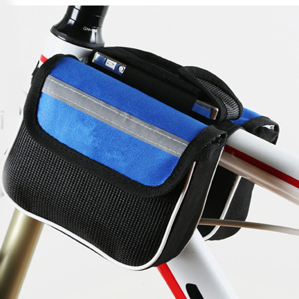¡Producto en oferta! Bolsa frontal de tubo superior para bicicleta, bolsa de almacenamiento impermeable para ciclismo al aire libre, bolsa para guardar llaves y billetera, gafas de sol