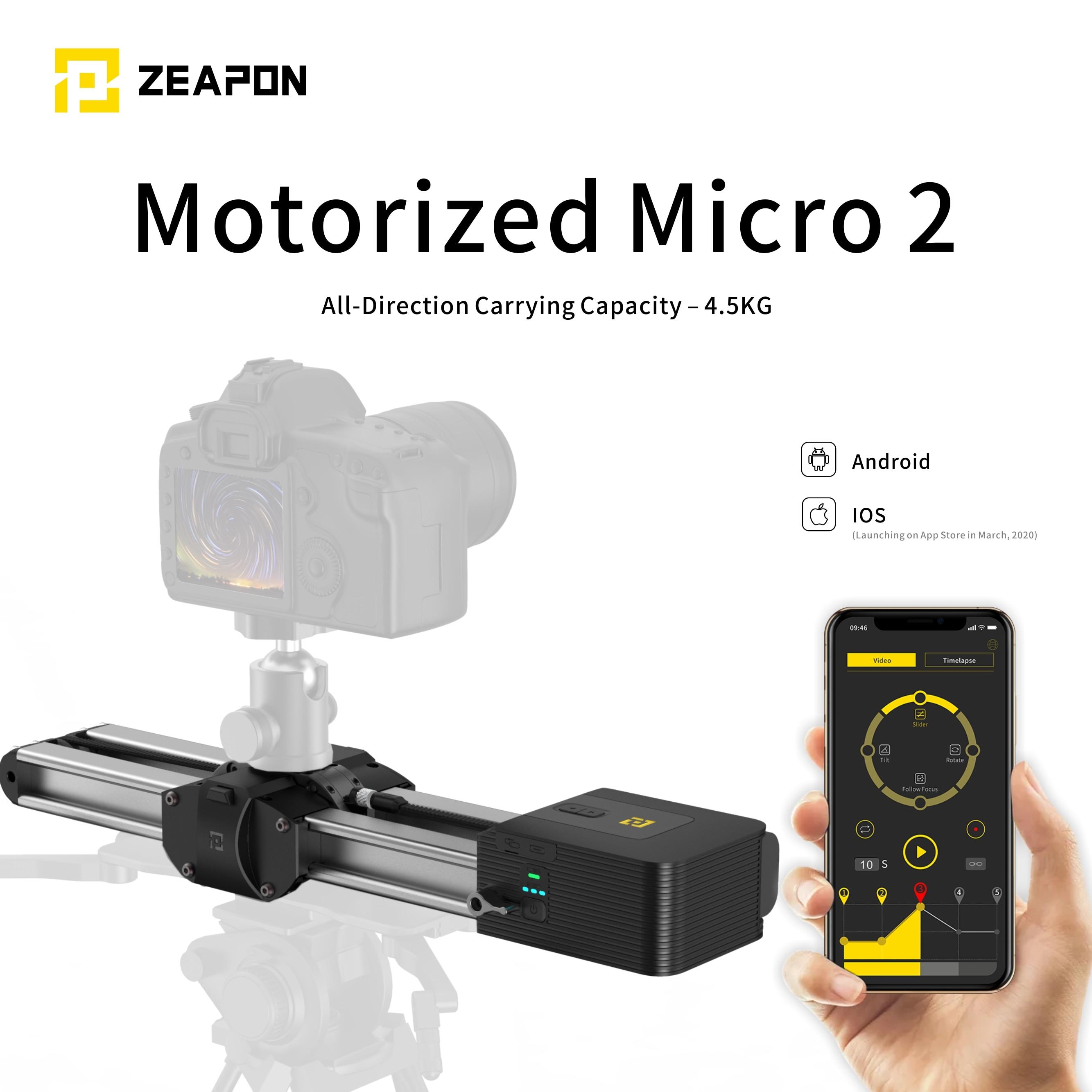 Zeapon Micro 2-كاميرا صغيرة بمحرك ، منزلق متوازي لمسافة مزدوجة ومحمول ، لكاميرا DSLR